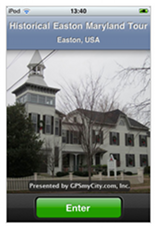 Easton Maryland walking tour app for iPhone